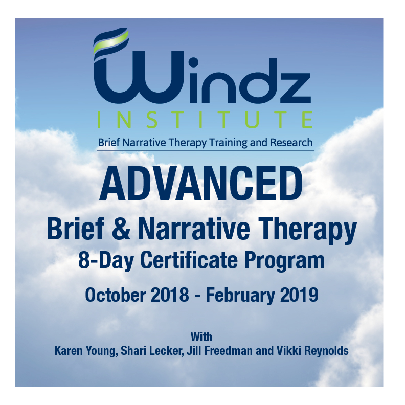 Advanced Brief Narrative Therapy Certificate Program Rock Events